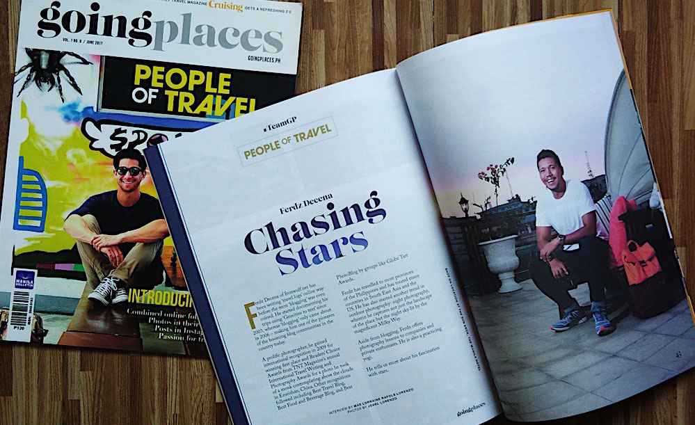 Feature on the June 2017 issue of Going Places Magazine
