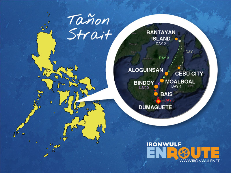 Expedition map of Tañon Strait photo safari