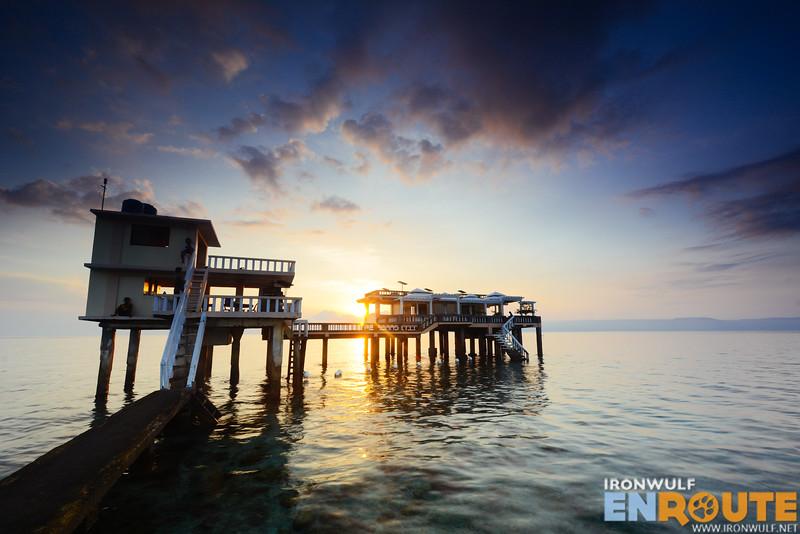 Sunrise at Mantalip Reef station at Bindoy, Negros Oriental
