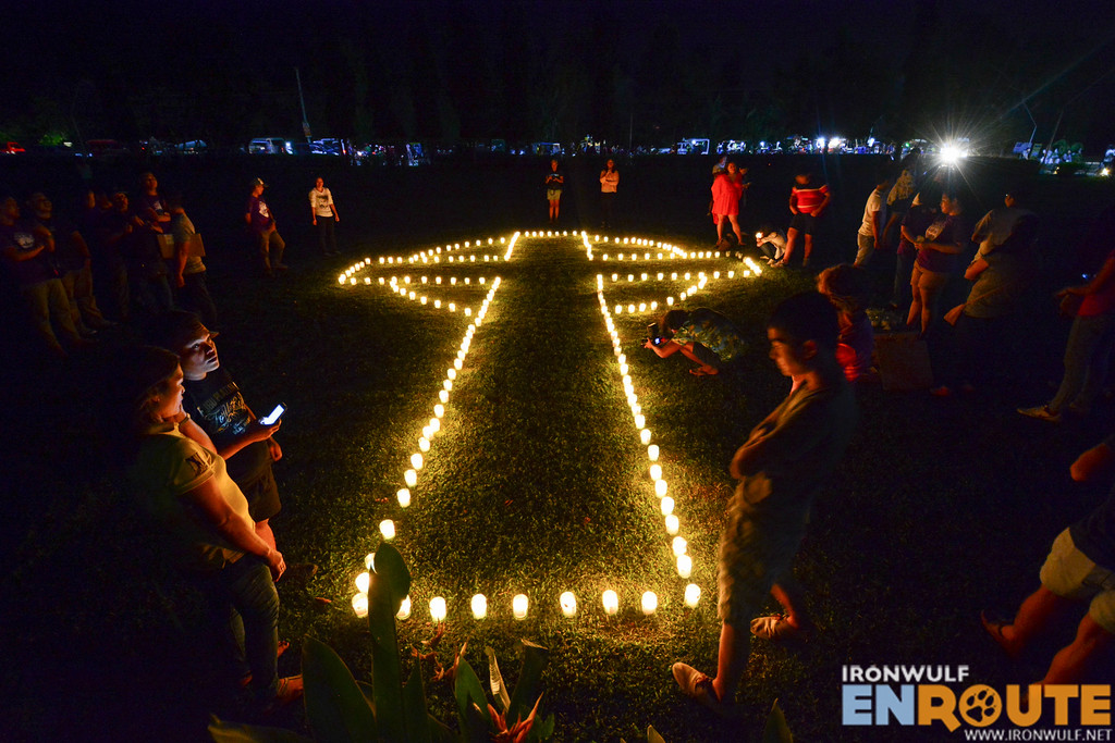 Candle lighting for commemorating Typhoon Yolanda 3 years after