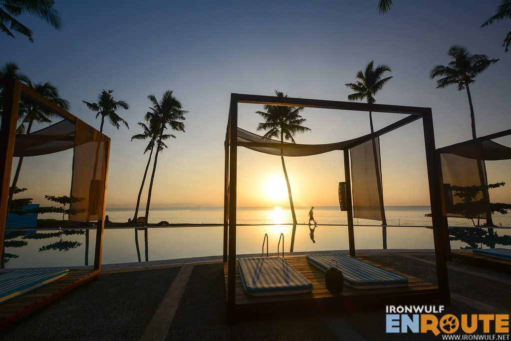 Morning by the infinity pool at the Oriental Leyte