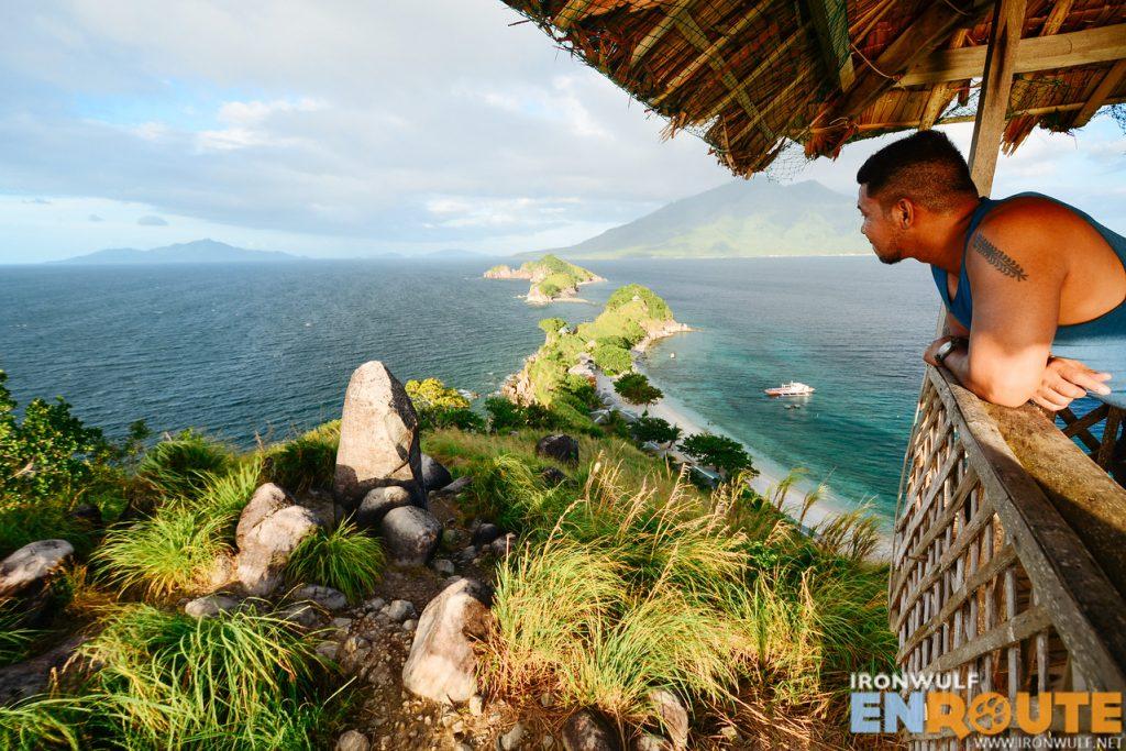 View from the hill at Sambawan Island