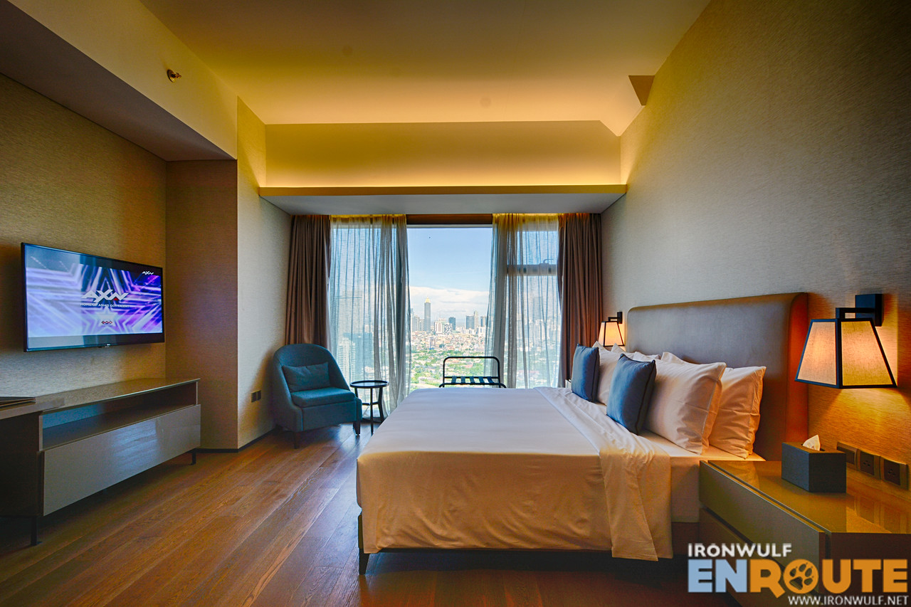 The bedroom at the 1BR Executive Suite at I'm Hotel