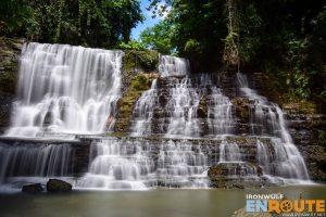 Gorgeous wall of cascades at Merloquet Falls