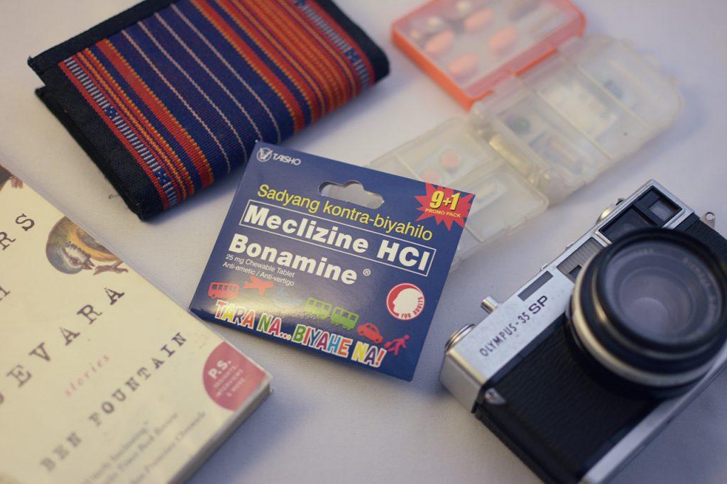 Bonamine promo pack as a travel essential