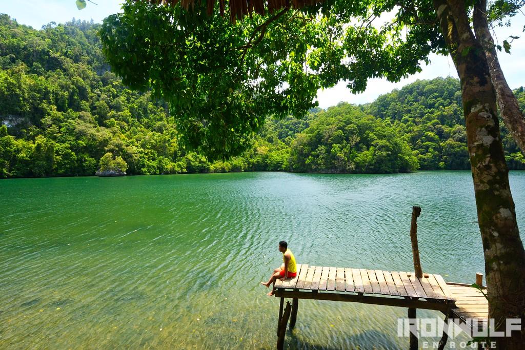 The wooden pier at Tiktikan Lagoon