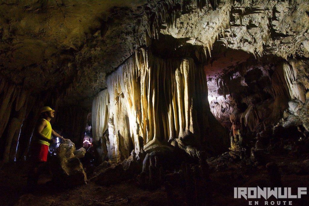 Captivating set of pillars at Tundan Cave