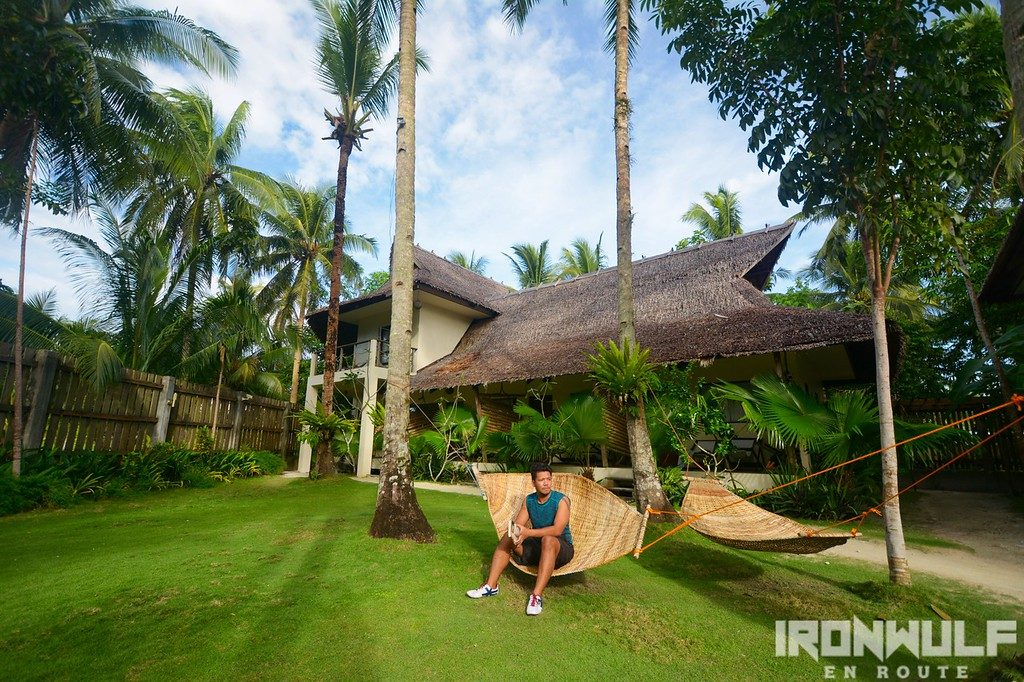 Hanging out at the hammock at Buddha's Surf Resort