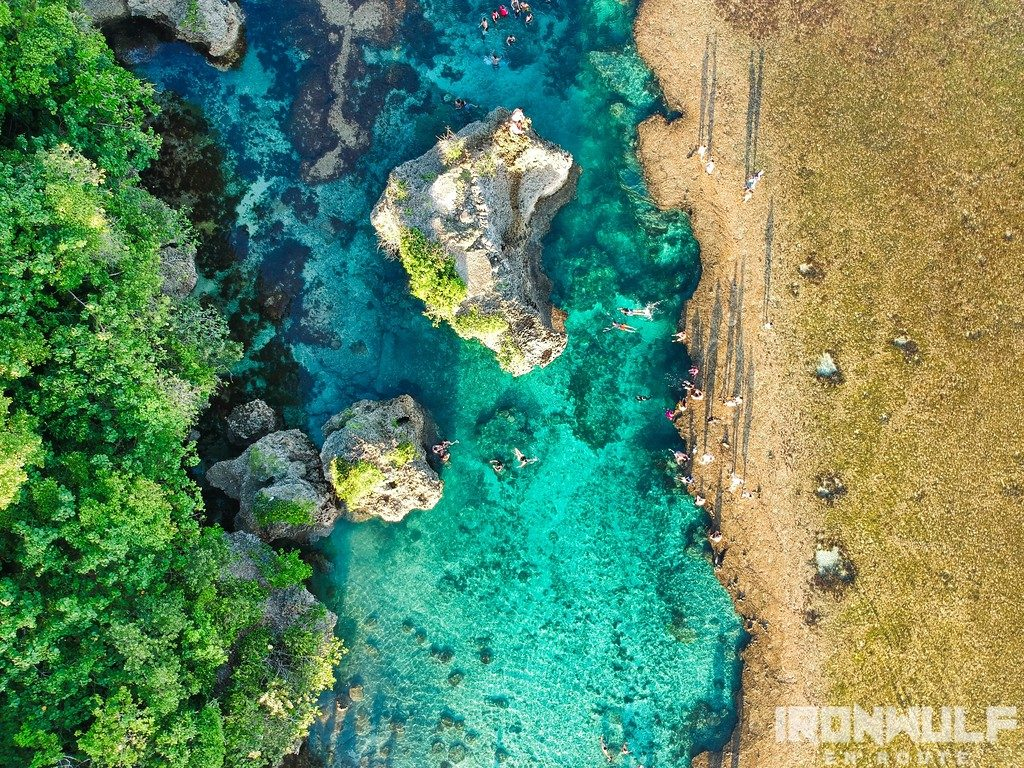 Magpupungko Rock Pools aerial view