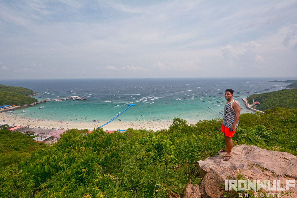 At the Koh Larn island viewpoint