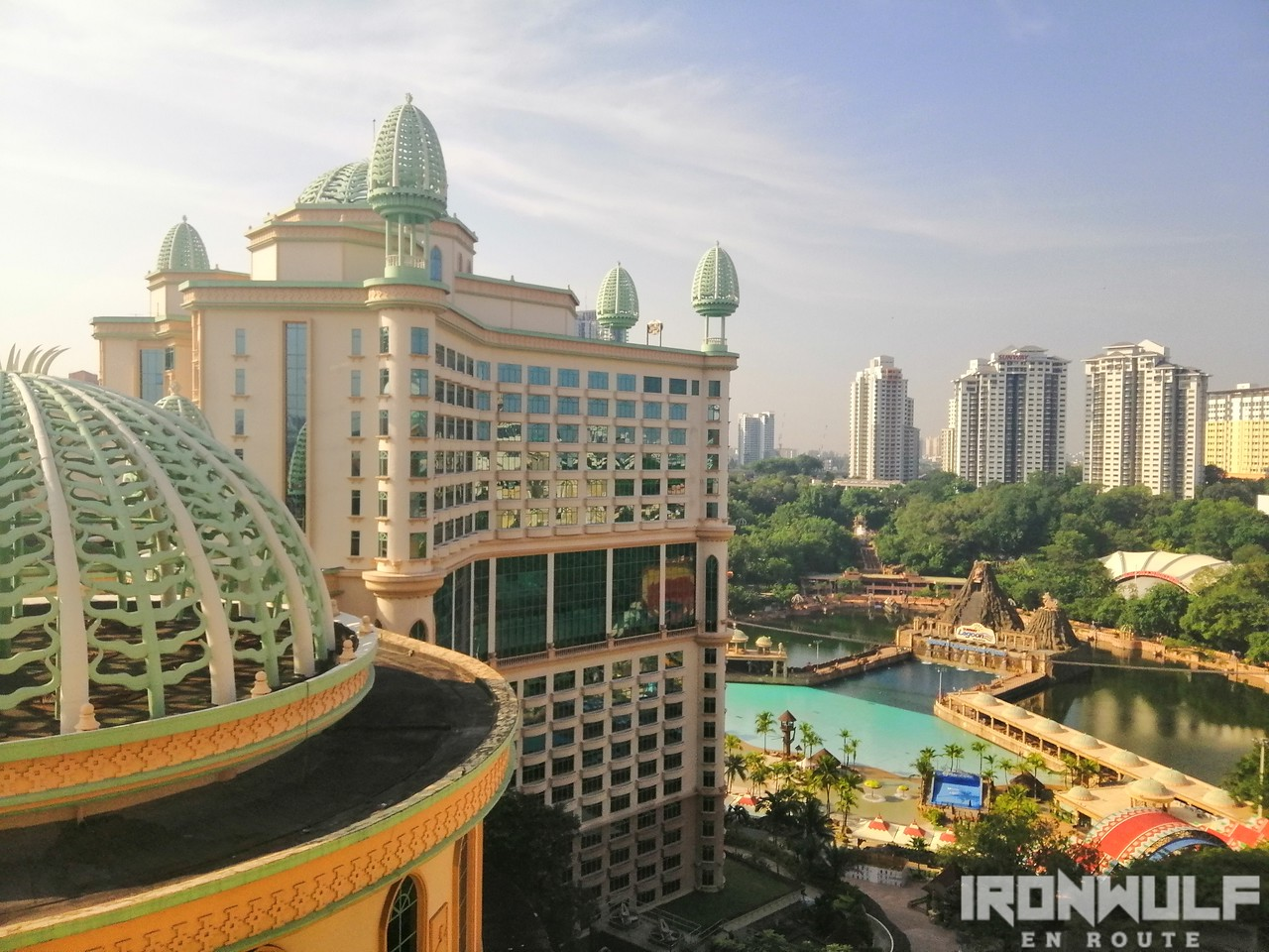 View from our room at Sunway Pyramid Lagoon