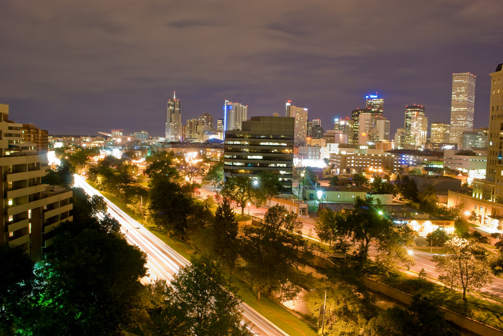 Denver City at night