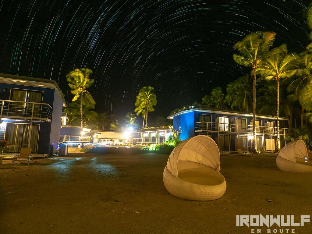 Star trail night at Apsaras Tribe Resort