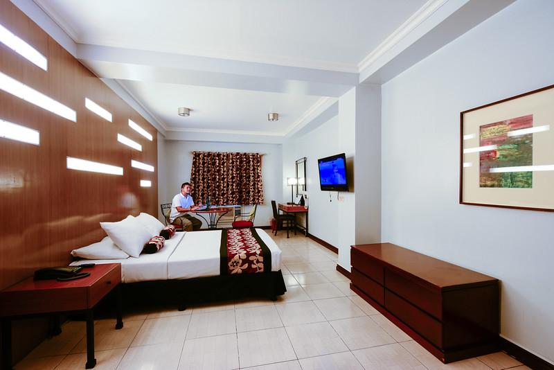 Inside the Deluxe Suite room at Jupiter Suites