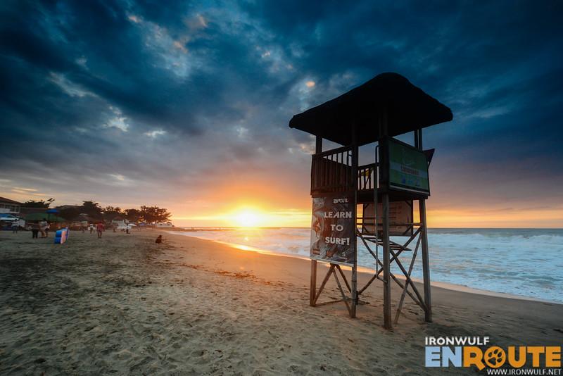 Lifeguard post at San Juan Beach
